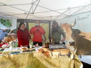 Dégustation de viande maraîchine en magasin Biocoop, octobre 2020 – photo © LPO Vendée